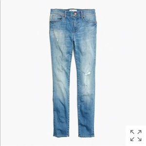 "Madewell 9"" High Rise Skinny Jeans in Sadie Wash"